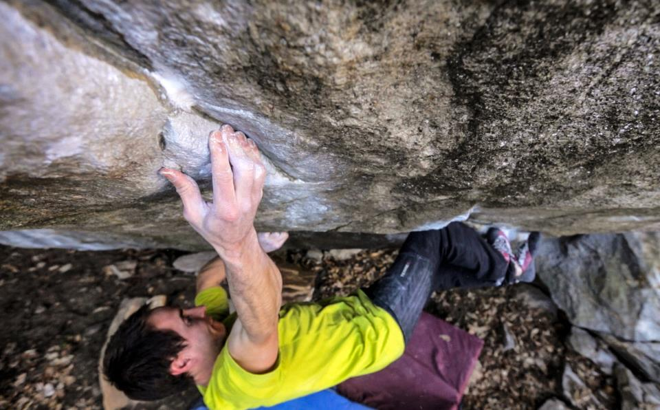 Carlo Traversi on The Kingdom, ~8C, Brione, Switzerland, 96 kb