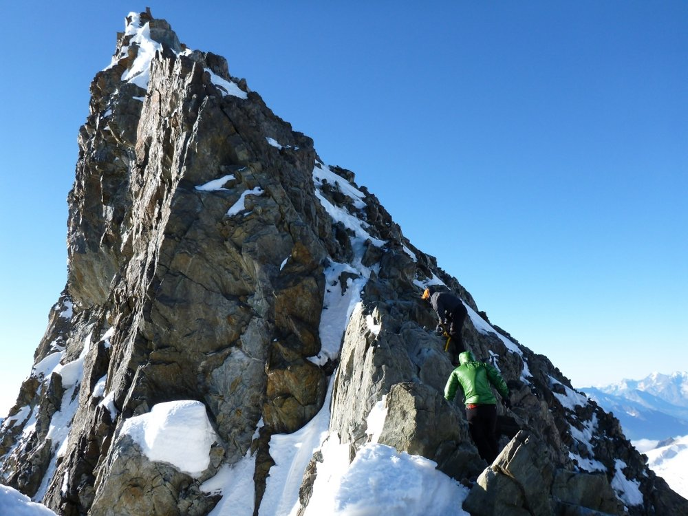 The Final Step Before the Summit of Finsteraarhorn., 148 kb