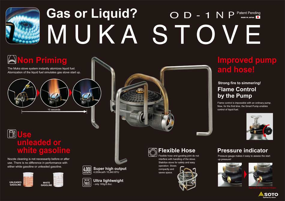 Soto Muka Stove Technical Details, 69 kb