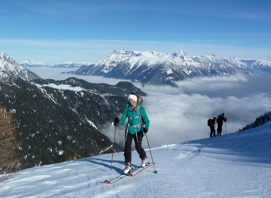 Sarah Stirling testing the Scarpa Gea RS Ski Boots close to Chamonix, 143 kb
