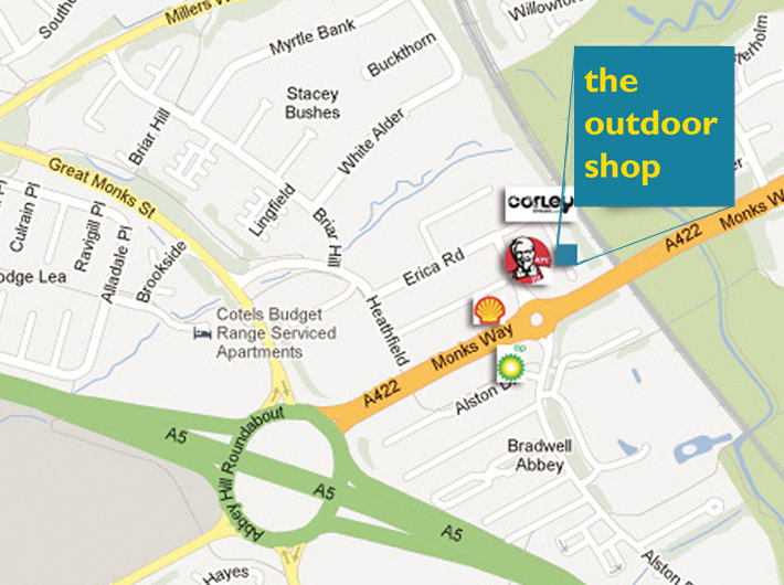The Outdoor Shop - new location map, 87 kb
