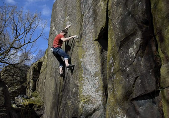 Will Atkinson on the first ascent of Hired Goons - E8 6c, 57 kb