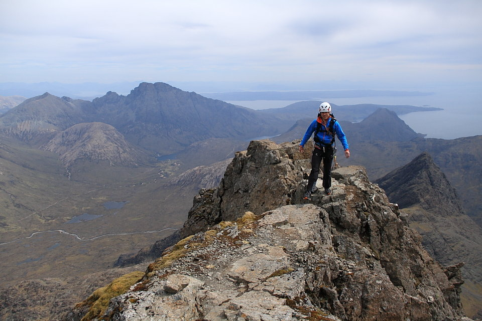 Mammut's own Rob Sykes sports Base Jump Advanced trousers on Sgurr nan Gillean, 143 kb