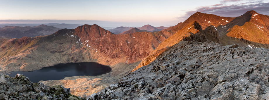 The Snowdon Horseshoe from Crib Goch - 6am, 177 kb