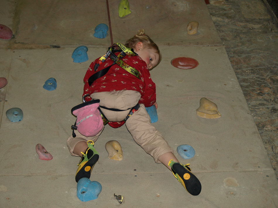 Nyah Davidson in action in the La Sportiva Stickit Kids Rock Shoe , 124 kb