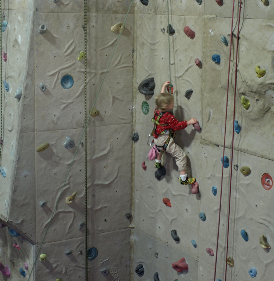 Nyah Davidson in action in the La Sportiva Stickit Kids Rock Shoe , 153 kb