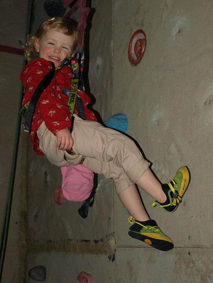 Nyah Davidson in action in the La Sportiva Stickit Kids Rock Shoe , 142 kb