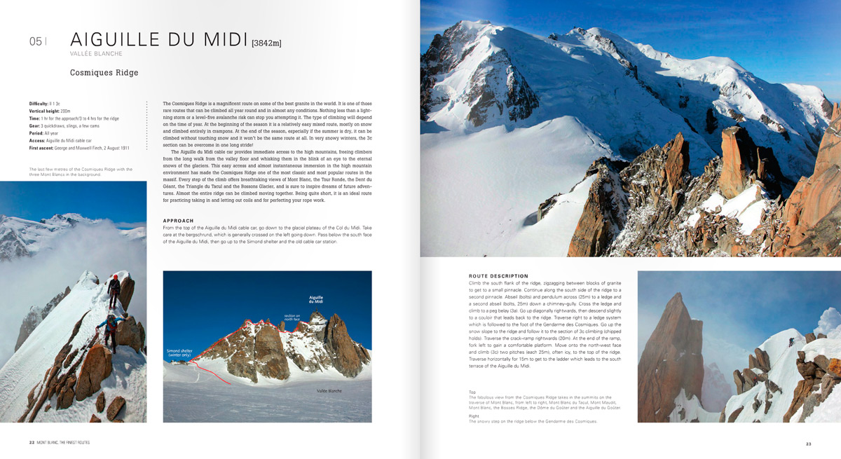 Mont Blanc - The Finest Routes - Sample Spread, 240 kb