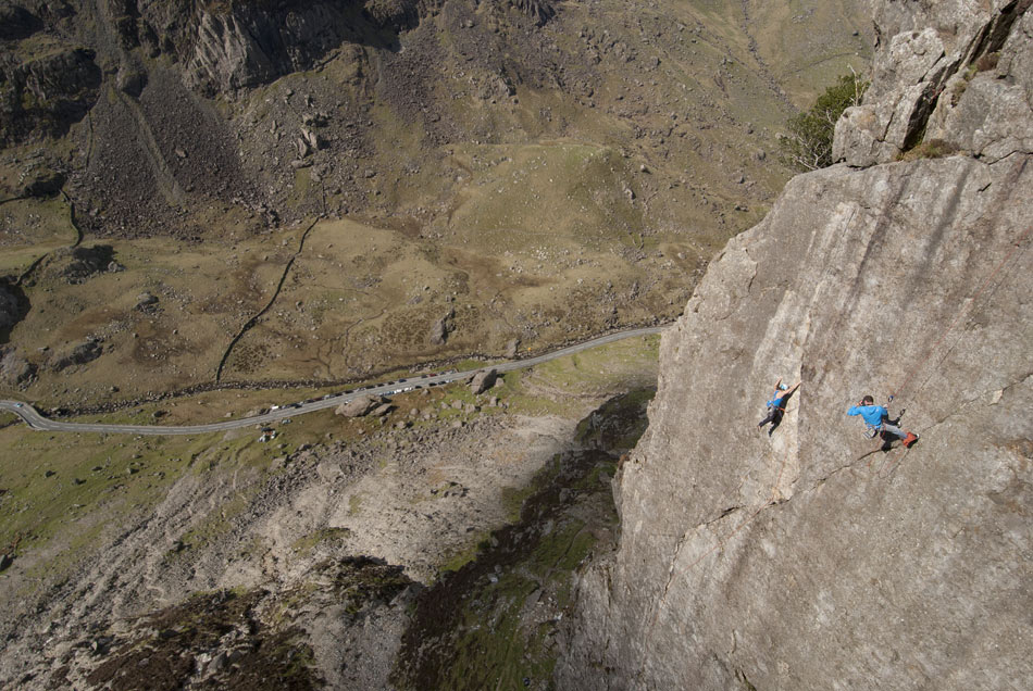 Jack Geldard on the Cover shoot for North Wales Climbs, 179 kb
