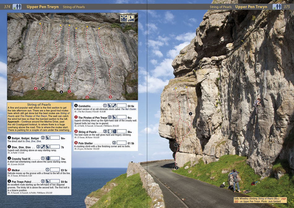 Example page 3 from the North Wales Climbs Rockfax, 212 kb
