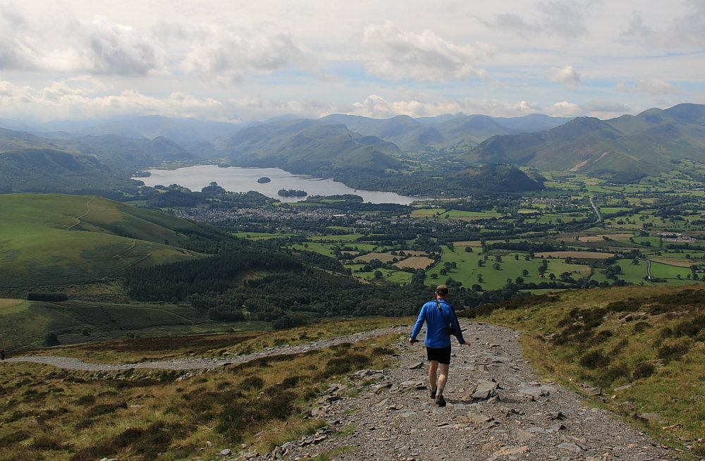 Looking south from the Latrigg path at the start of a very long couple of days, 157 kb