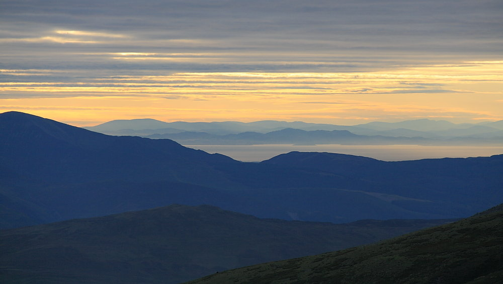 Galloway hills from Helvellyn, 65 kb