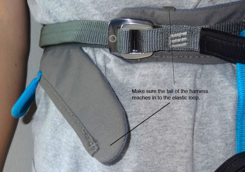 Waistband on the Eclipse - when fitting make sure your tail tucks away in the elastic loop., 176 kb