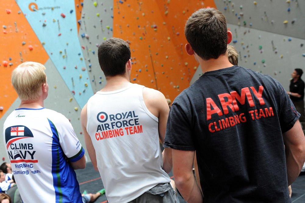 Friendly rivalry between the three services makes the interservices climbing championships a great event to be involved in, 156 kb