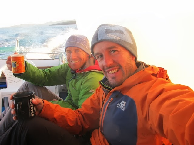 Donald King and Dave Macleod on the boat back to Barra, 51 kb