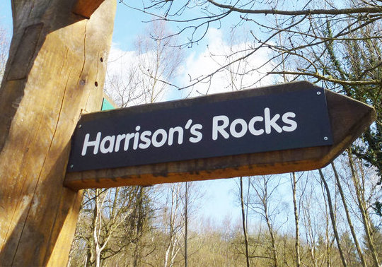 Harrison's Rocks Sign, 99 kb