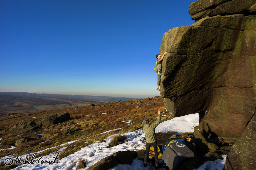 Michele Climbing Chip Shop Brawl, E5 6c/7A+, Stanage, 139 kb