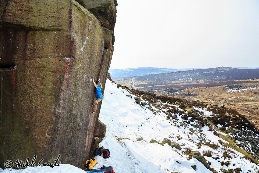 Michele Climbing Samson, 8A, Burbage, 165 kb