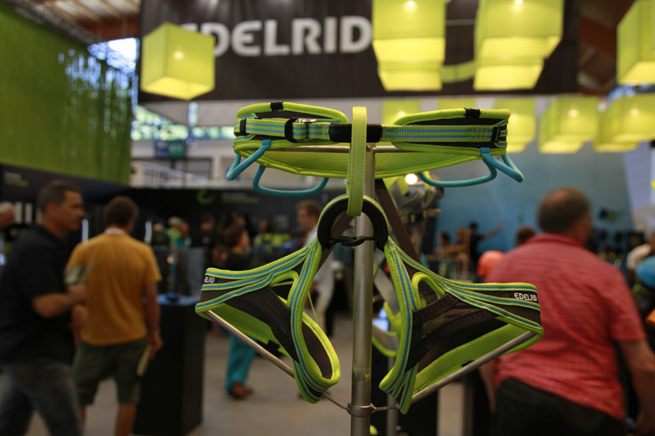 There's a full range of new harnesses from Edelrid, with women's specific models, 115 kb