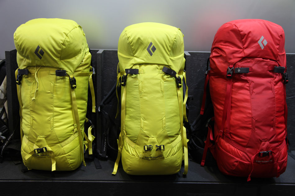 The new range of packs from Black Diamond on shoe at OutDoor 2013, 120 kb