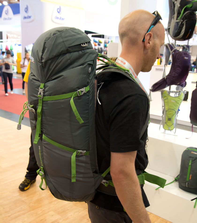 The Vango 50L Khumbu rucksack with its corrugated wave foam back system, 146 kb
