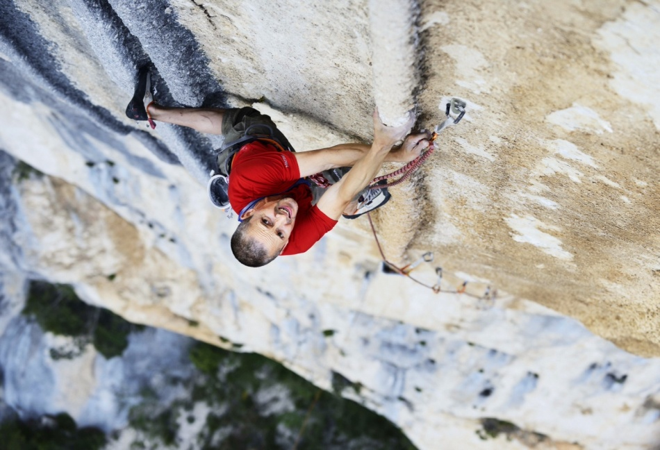 Steve McClure on his flash ascent of Tom et Je Ris, 8b+, Verdon Gorge, 199 kb