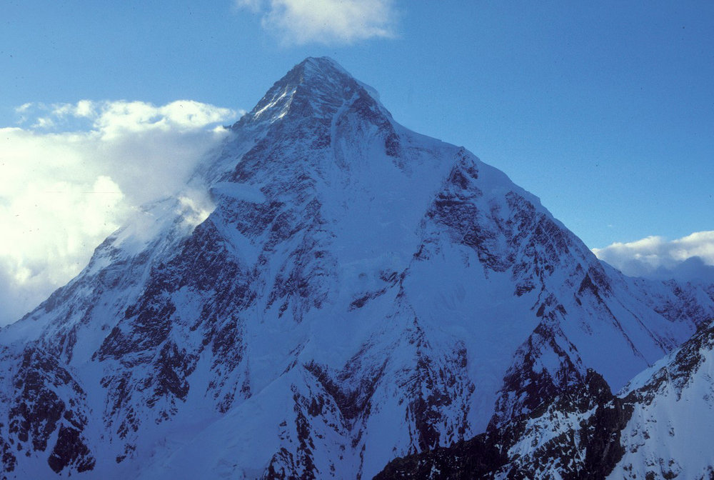 K2 from high on Broad Peak in 1987, 161 kb