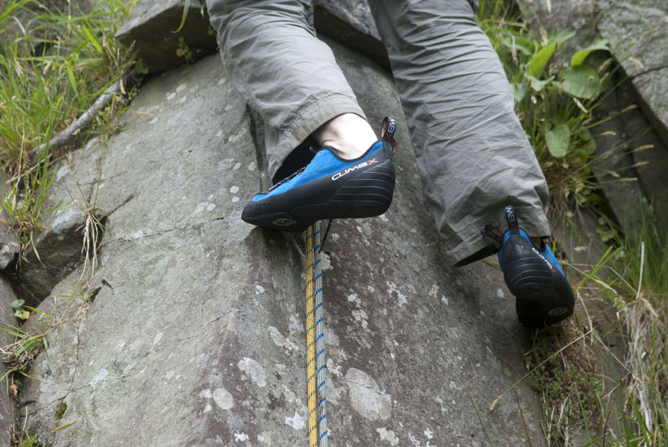 The Climb X Rock Master shoes at Tremadog, 186 kb