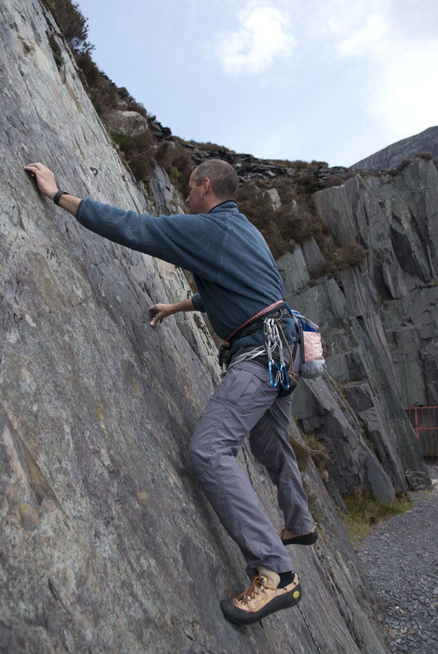 The La Sportiva Mythos put through its paces on the Llanberis Slate, 155 kb
