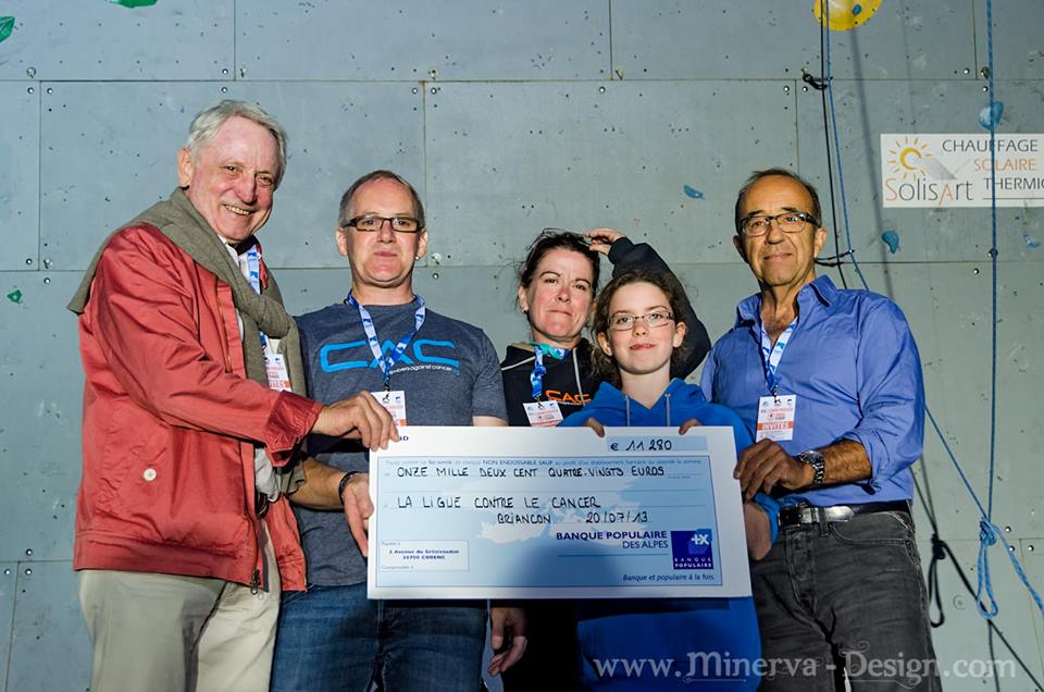 John Ellison and CAC donating £10,000 to 'La Ligue Contre le Cancer', 90 kb