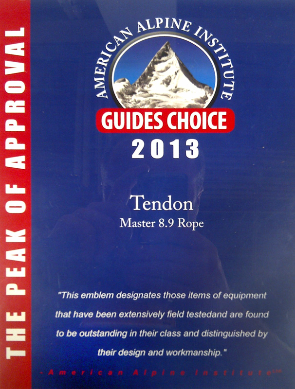 Tendon Climbing Ropes Receive International Accolades, 180 kb