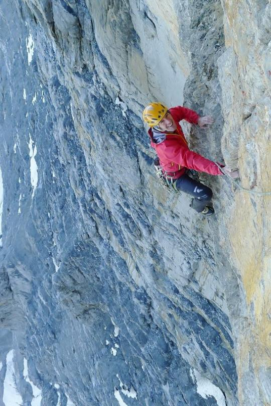 Dave MacLeod on Paciencia, 8a, North Face of the Eiger , 96 kb