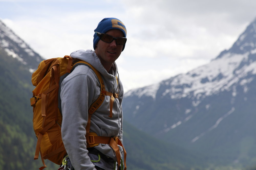 Charlie Boscoe with the Gregory Alpinisto 35 Litre Rucksack in Vallorcine, 79 kb