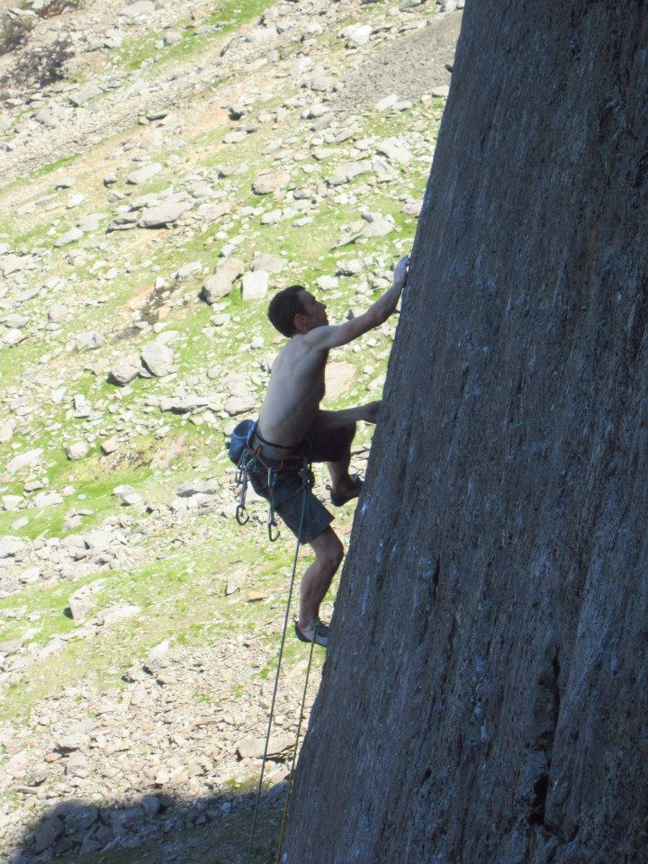 Technical, bold climbing on The Indian Face, typical style of the 1980s and especially the Dawes..., 155 kb