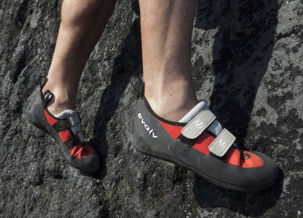 The Evolv Valor rock shoes, 196 kb