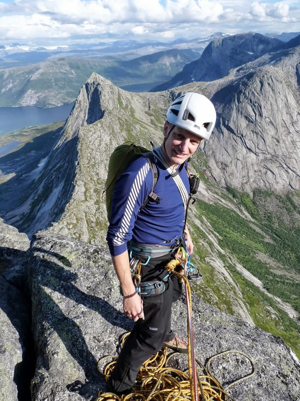High on the East Ridge of the Kuglhornet, Narvik region, Norway., 153 kb
