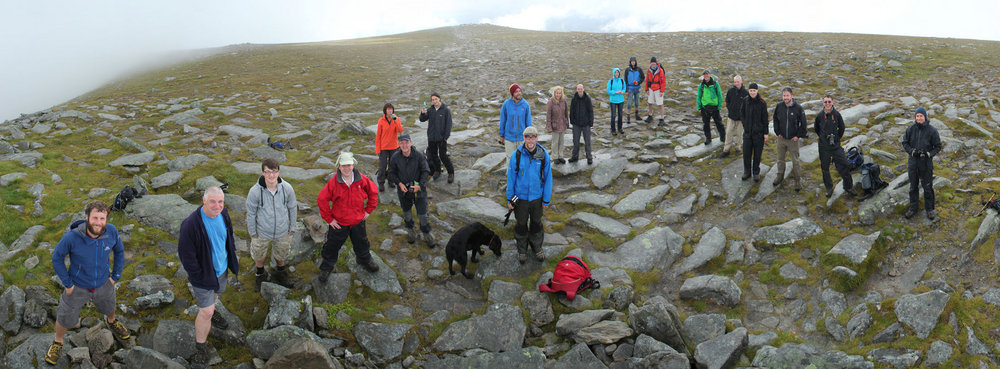 Everyone who came along to see me to the top of Ben Hope, Munro #282!, 148 kb