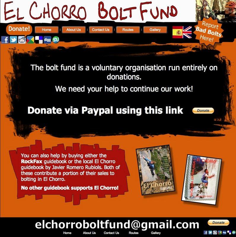 El Chorro Bolt Fund joins UKBoltFund.org photo 2, 135 kb
