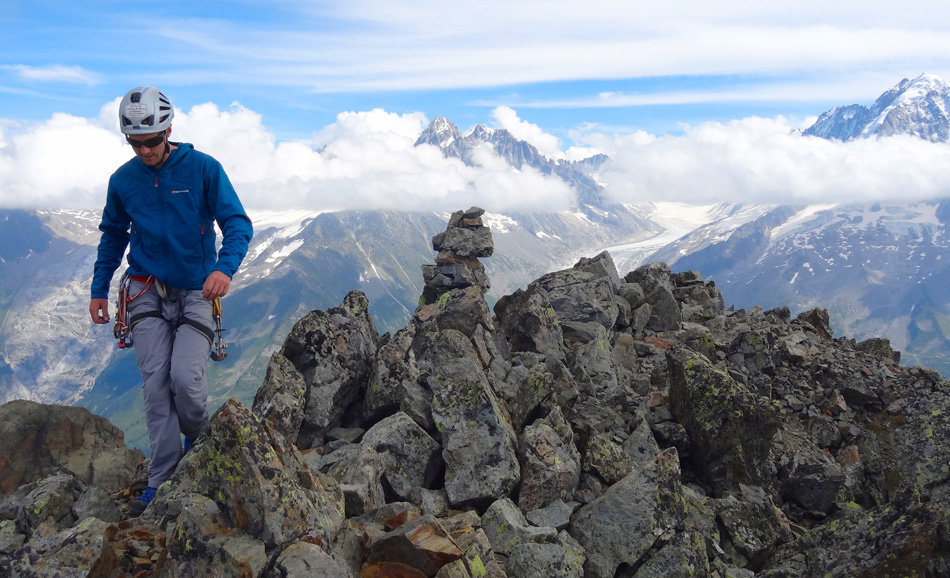 Summit of the Aiguille de la Perseverance., 165 kb