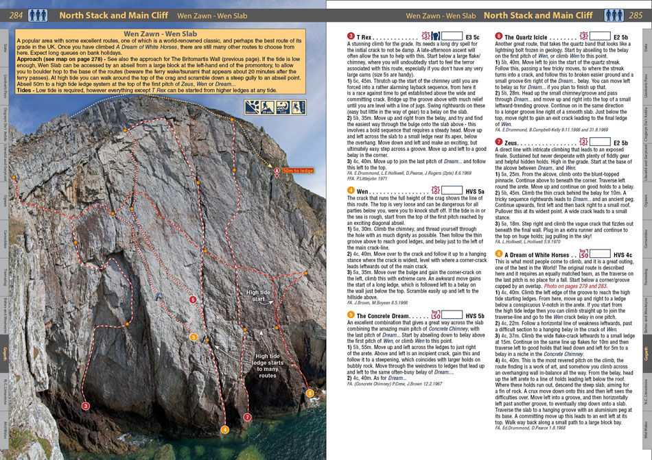North Wales Climbs - example page 1, 238 kb