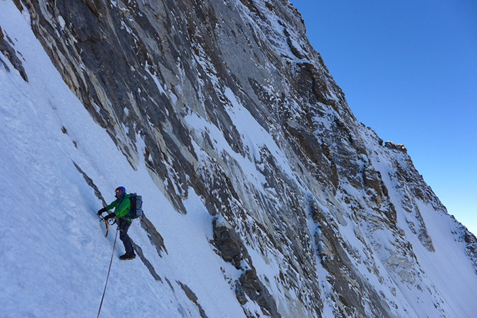 Mick Fowler on day three on Kishtwar Kailash (6451m), 166 kb