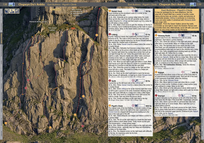 North Wales Climbs - example page 3, 197 kb