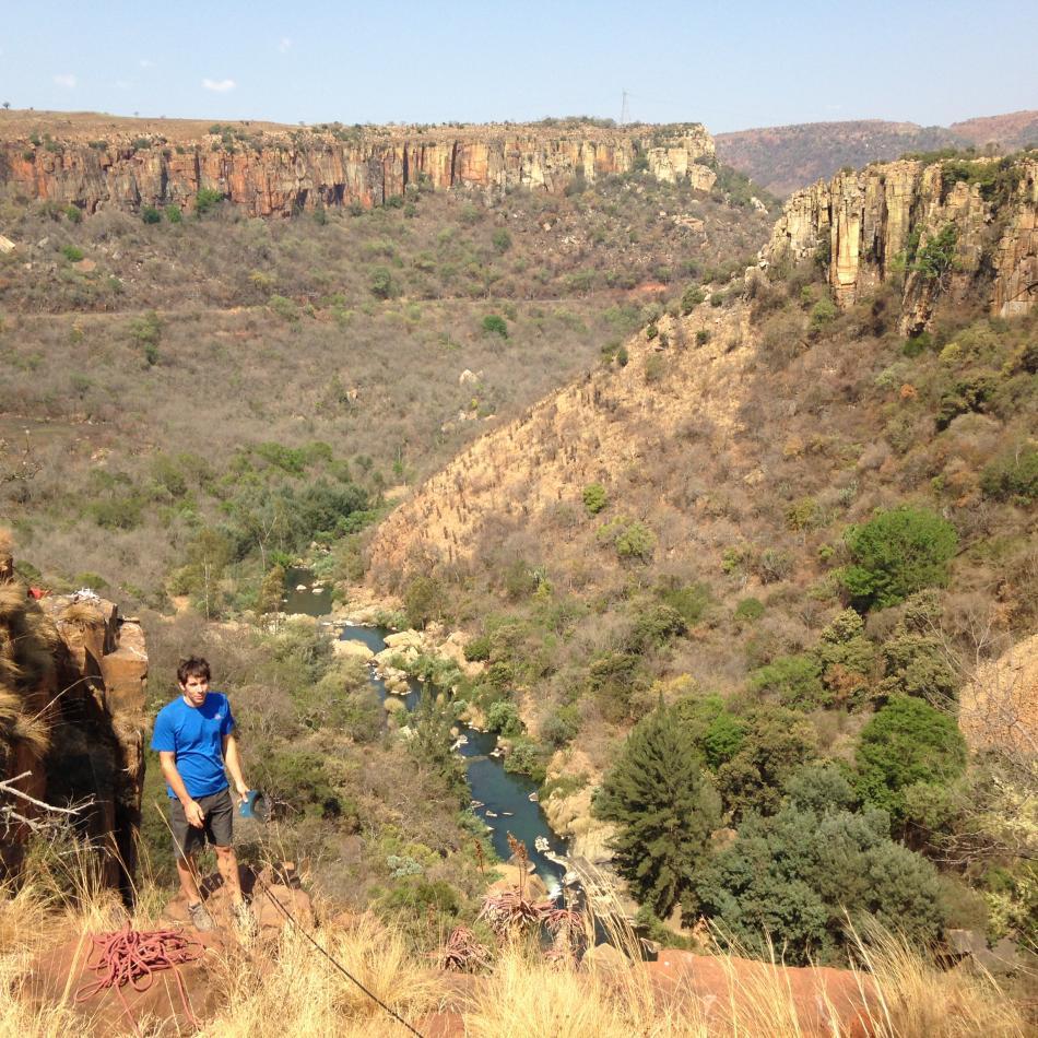 Alex at Waterfall Boven - Amazing single pitch sport climbing, 189 kb