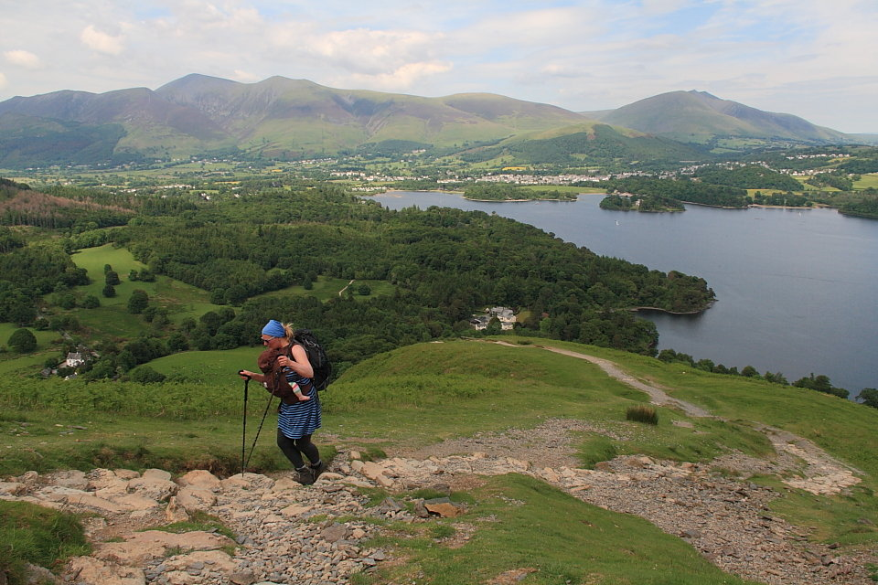 Hot and heavy on Cat Bells, but the well ventilated Ascent 36 isn't too sweaty, 156 kb