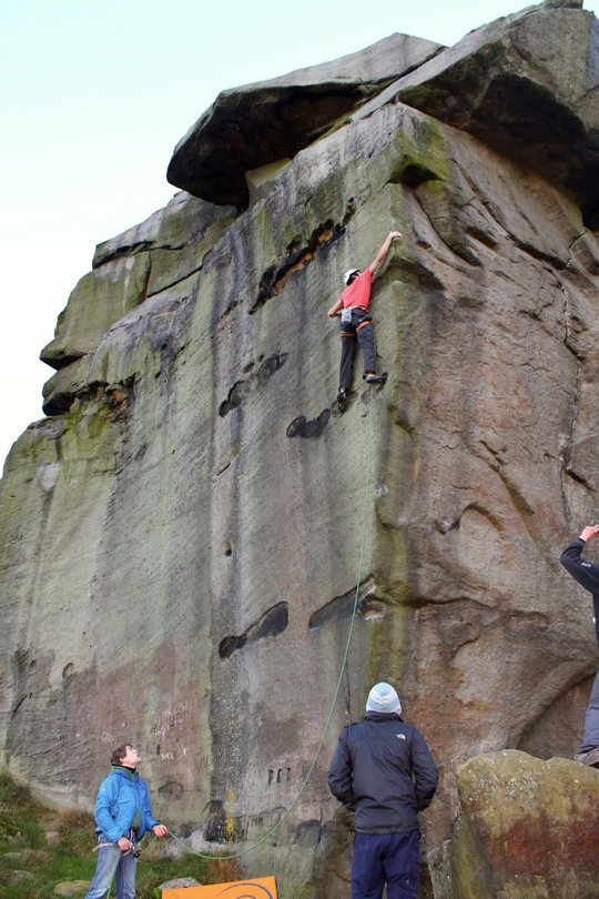Jacob Cook dwarfing The New Statesman, E8 7a, Ilkley, 99 kb