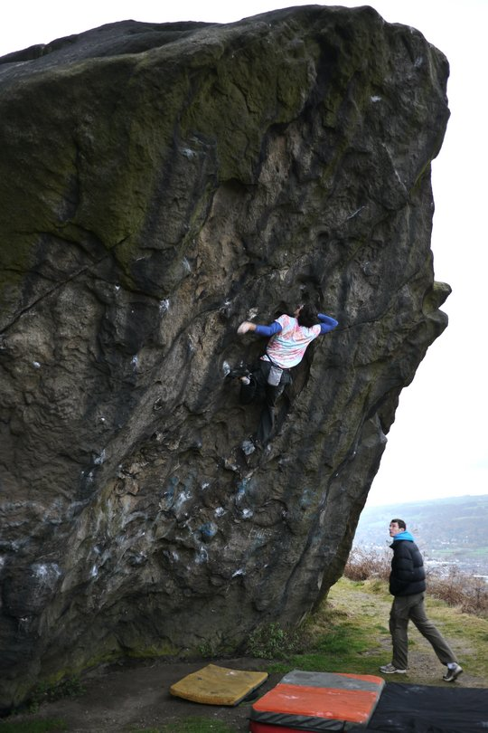 Jacob Cook on his flash ascent of the hard and high Cindy Crawford 7C, Ilkley, 87 kb