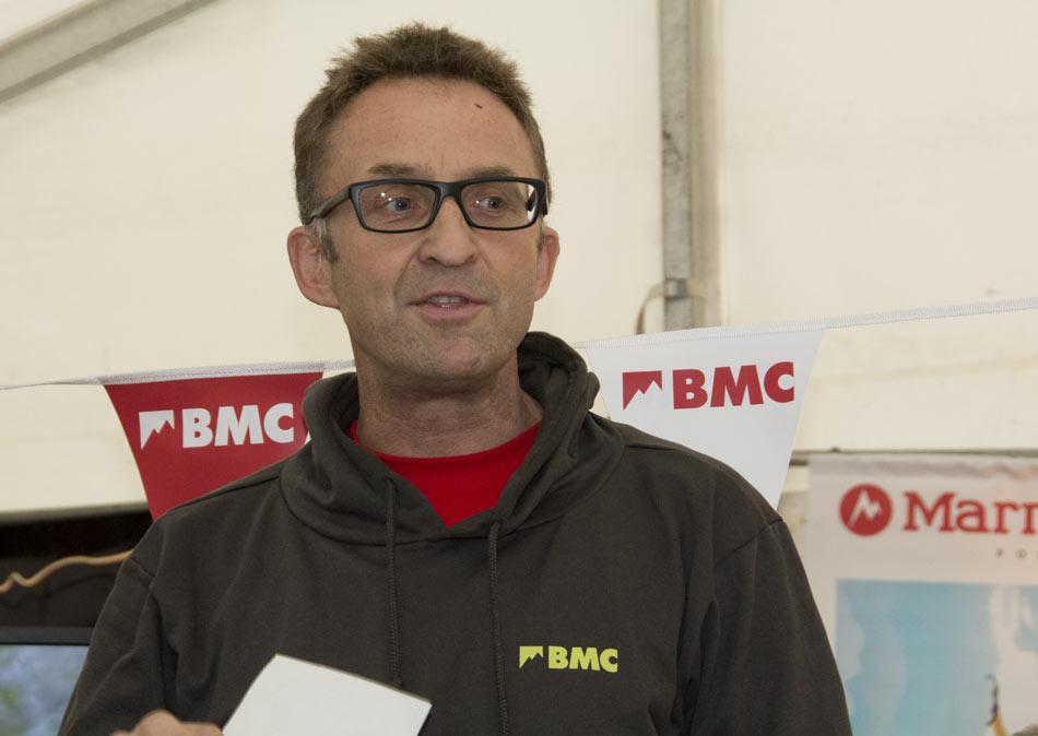 Dave Turnbull introducing BMC TV in the BMC Reception on Saturday, 60 kb