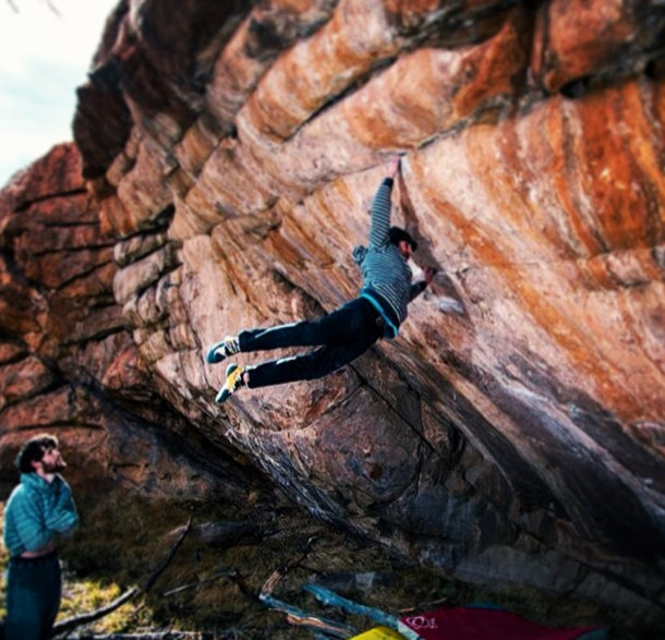 Daniel Woods on Defying Gravity, ~8C, Thunder Ridge, CO, 94 kb