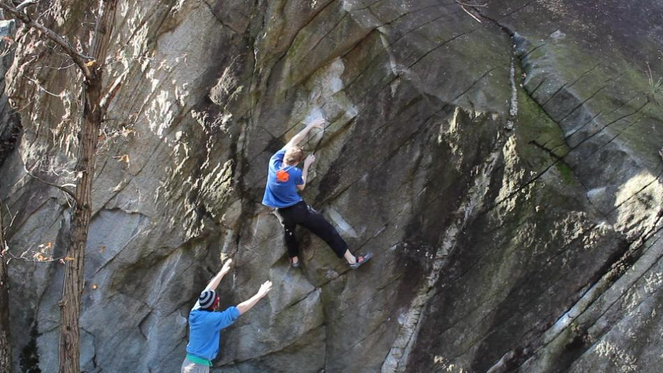Tommy Williams flashing Confessions of a Crap Artist, 7C+, 95 kb