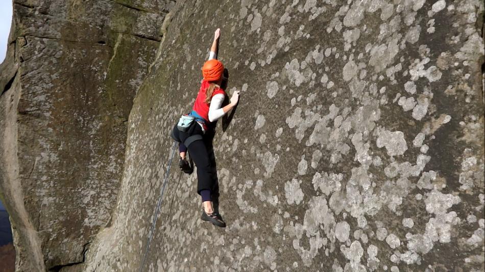 Katy Whittaker rocking into the final hard section on Knockin' On Heaven's Door, 106 kb